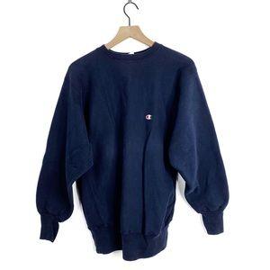 Champion Vintage Reverse Weave Navy Sweatshirt XL